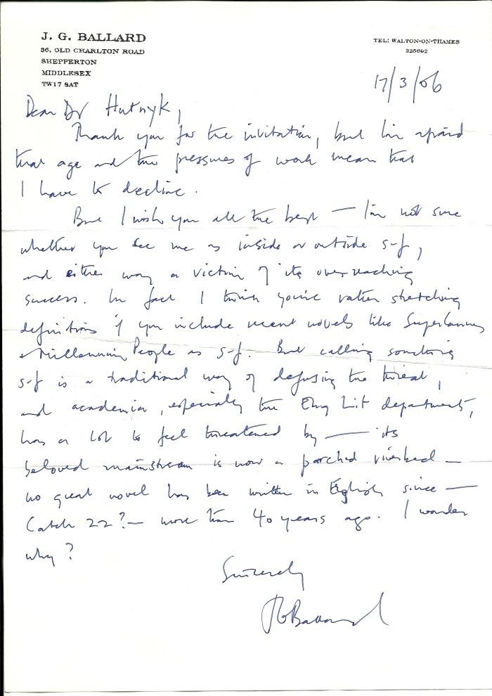 BAllard letter