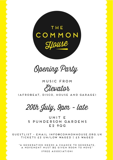 TheCommonHouse_Flyer